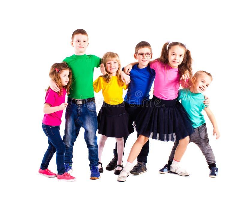 Equipe amigável dos meninos e das meninas fotografia de stock royalty free