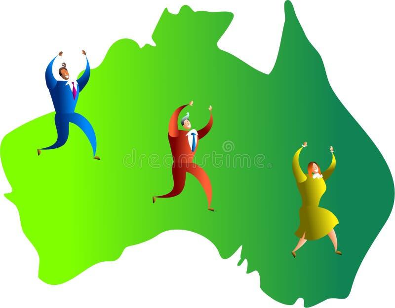 Equipe australiana ilustração royalty free