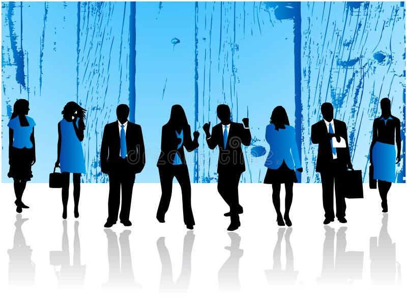 Equipe azul ilustração stock