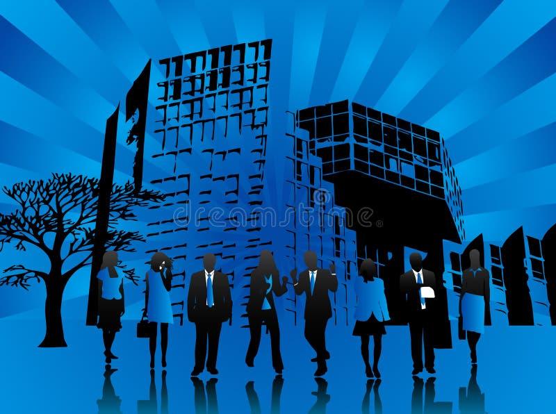 Equipe azul ilustração royalty free