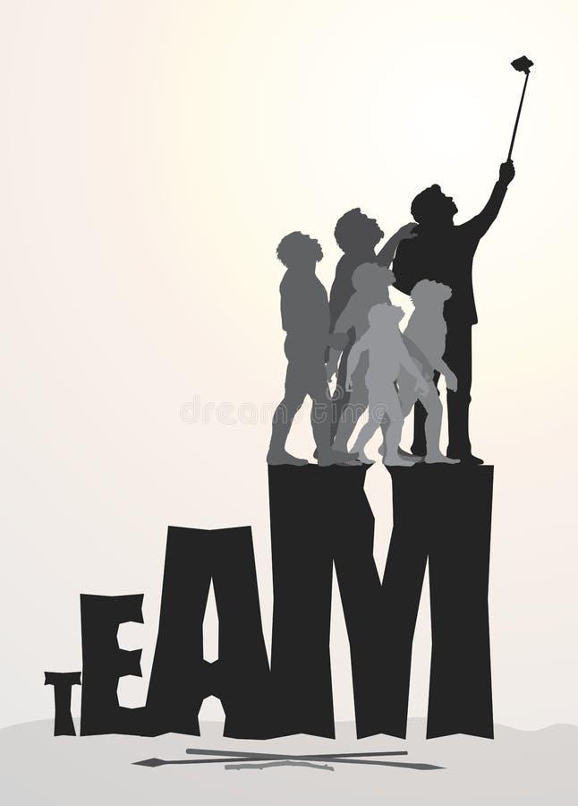 Equipe bem sucedida ilustração stock