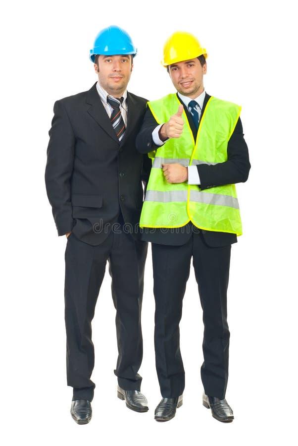 Equipe bem sucedida de homens dos coordenadores fotografia de stock