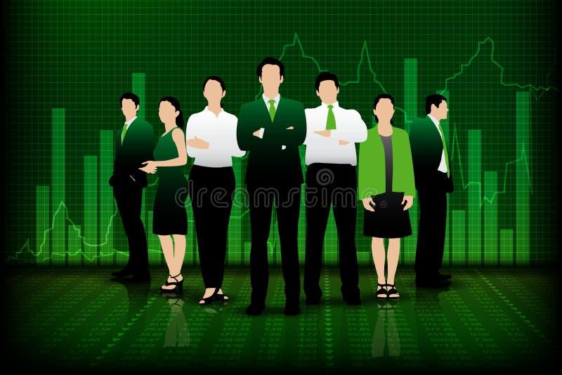 Equipe bem sucedida do negócio ilustração royalty free