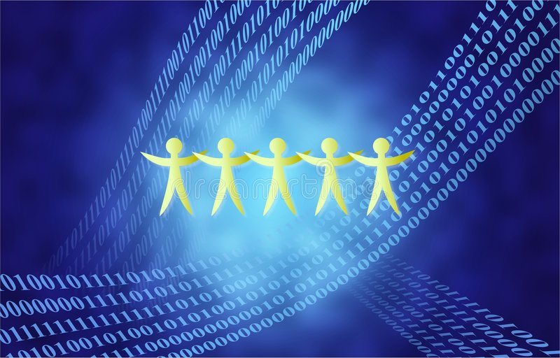 Equipe binária ilustração stock