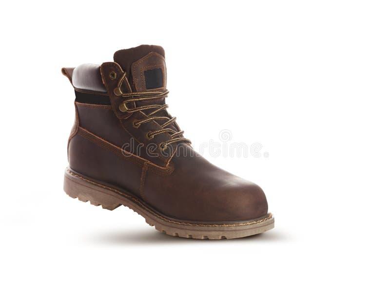 Equipe a bota do tornozelo, cor marrom, com couro do nubuck imagem de stock royalty free