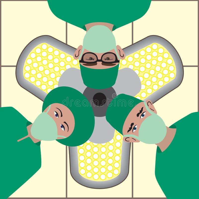 Equipe cirúrgica ilustração do vetor
