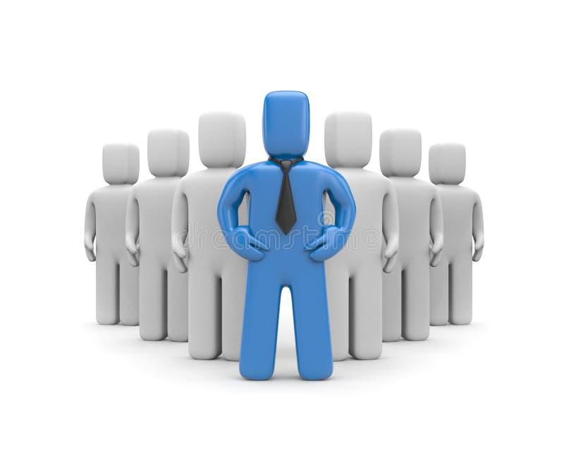Download Equipe com líder ilustração stock. Ilustração de trabalho - 16853902