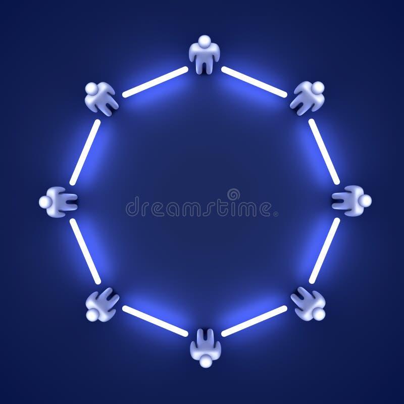 Equipe conectada ilustração stock