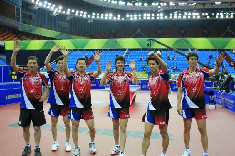 Equipe coreana foto de stock
