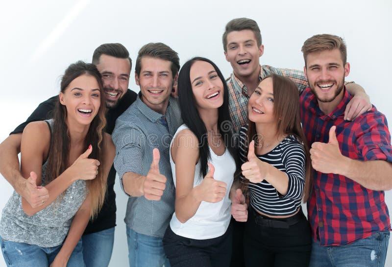 Equipe criativa do negócio que mostra o polegar acima fotos de stock