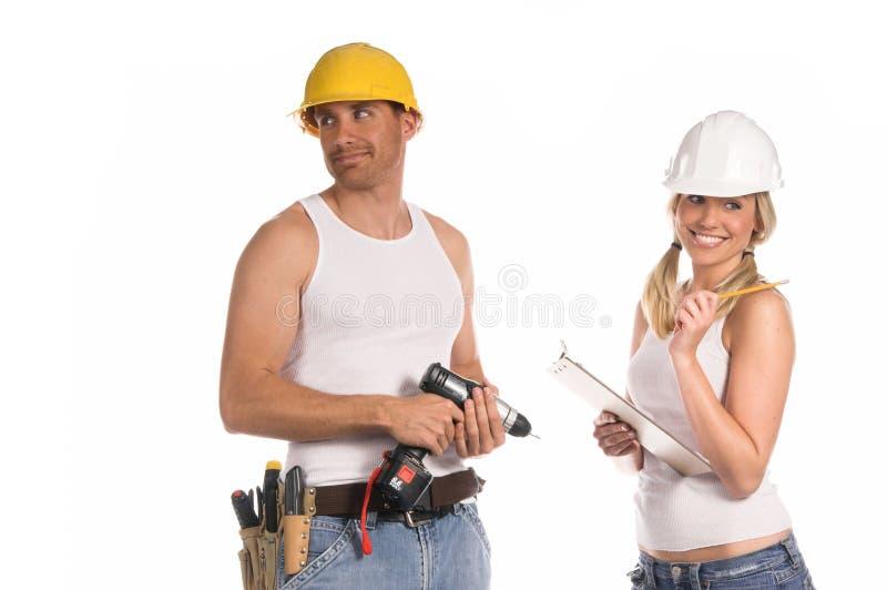 Equipe da construção imagem de stock royalty free