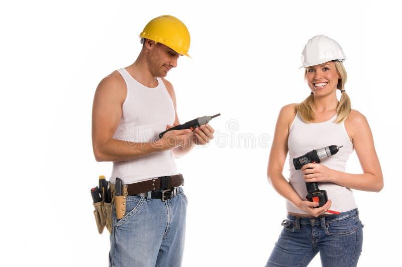 Equipe da construção imagens de stock royalty free
