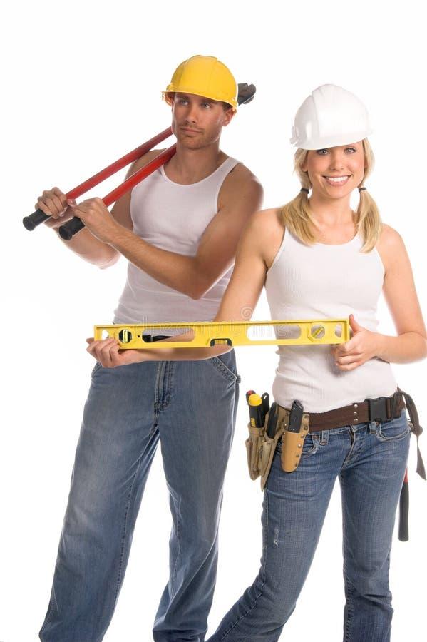 Equipe da construção fotografia de stock