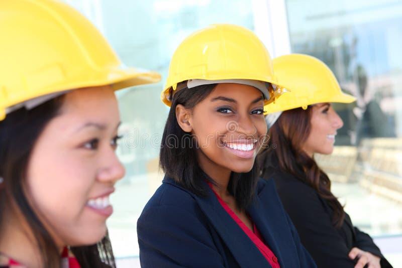 Equipe da construção da mulher fotografia de stock royalty free