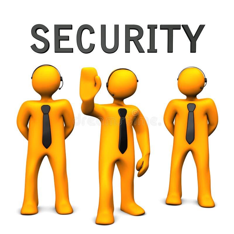 Equipe da escolta da segurança ilustração do vetor
