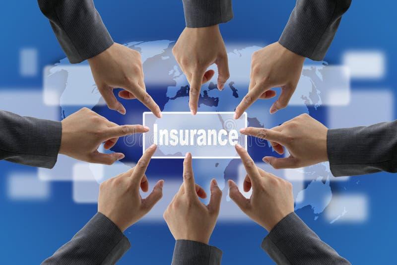 Equipe da gestão de riscos do seguro fotografia de stock