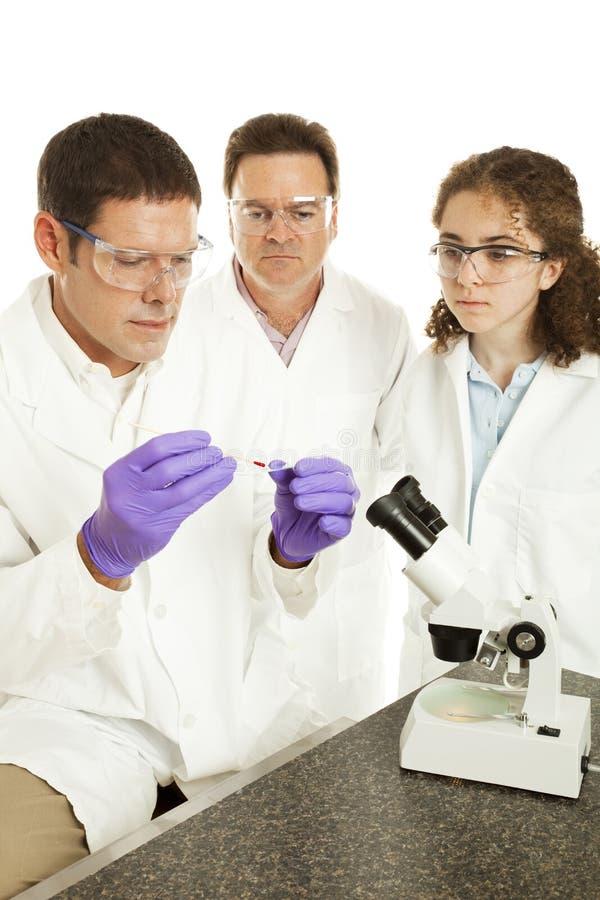 Equipe da investigação médica imagens de stock