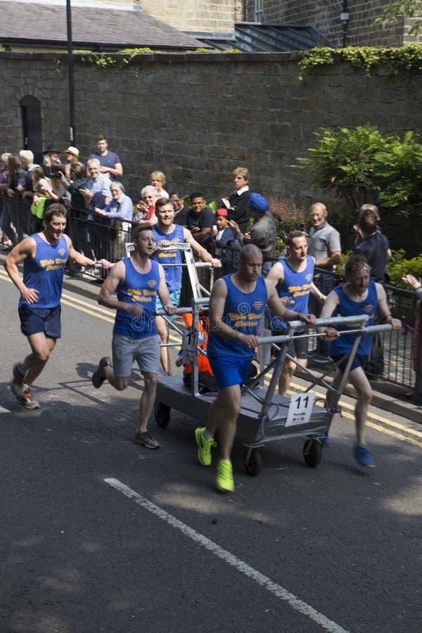 Equipe 11 da raça 2015 da cama de Knaresborough fotos de stock
