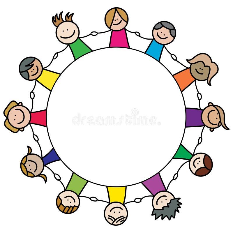 Equipe das crianças ilustração stock