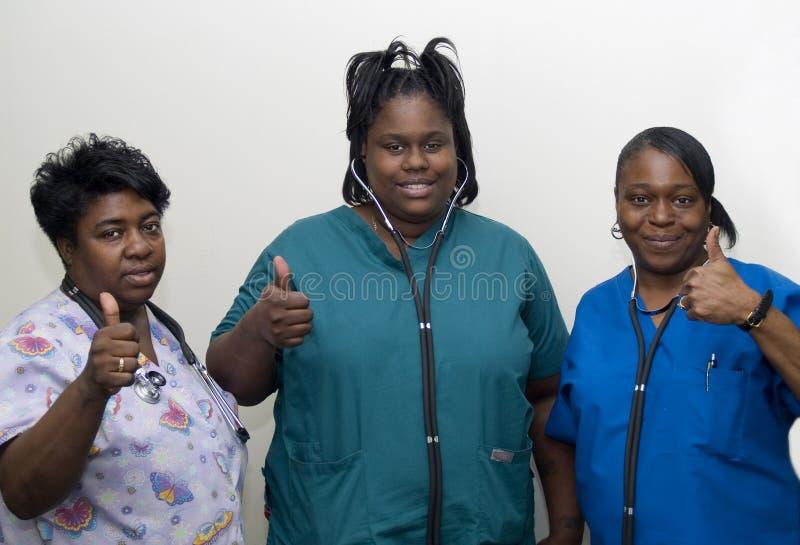 Equipe das enfermeiras imagem de stock royalty free