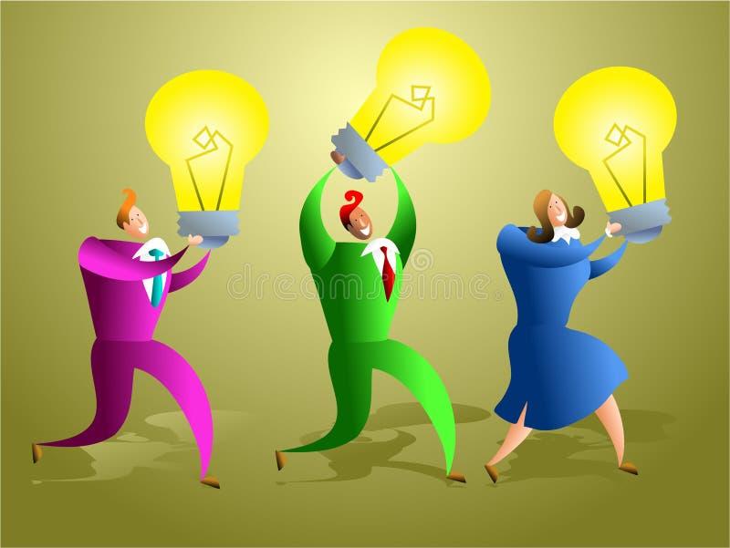 Equipe das idéias ilustração royalty free