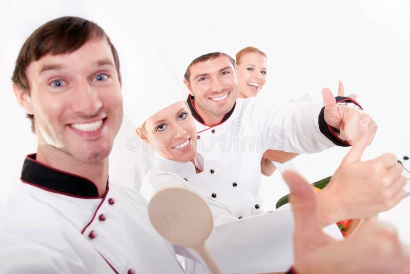 Equipe de funcionários do trabalhar-restaurante da equipe fotos de stock royalty free