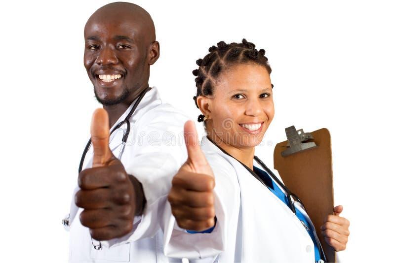Equipe de funcionários médica africana fotografia de stock royalty free