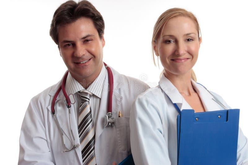 Equipe de funcionários médica feliz fotografia de stock royalty free