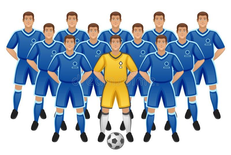 Equipe de futebol ilustração do vetor