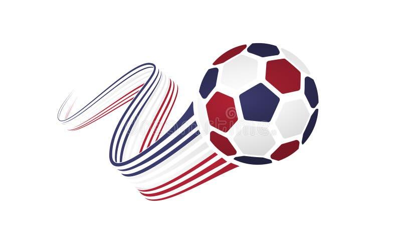 Equipe de futebol americana ilustração royalty free