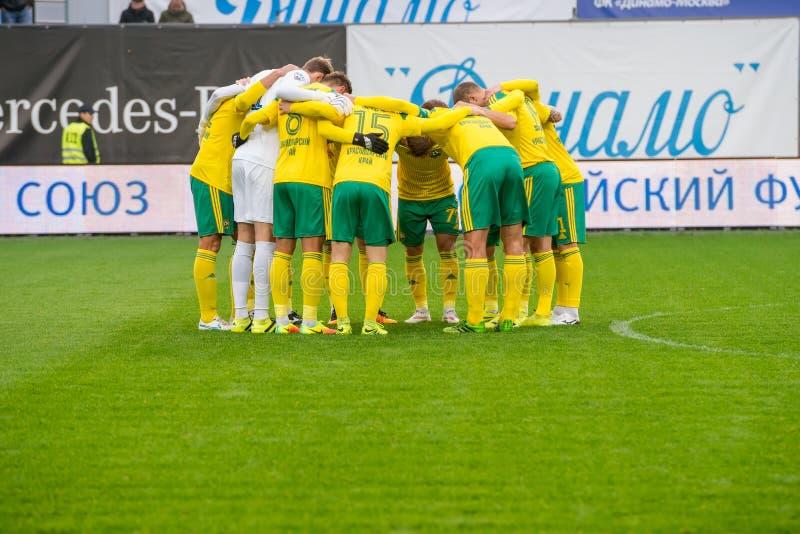 Equipe de Kuban ajustada no jogo de futebol imagens de stock royalty free