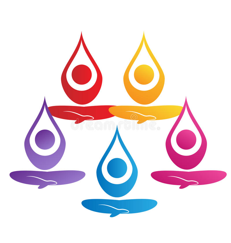 Equipe de povos da ioga ilustração royalty free