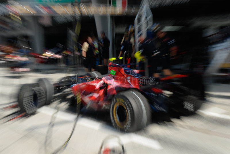 Equipe de Scuderia Toro Rosso STR2   foto de stock