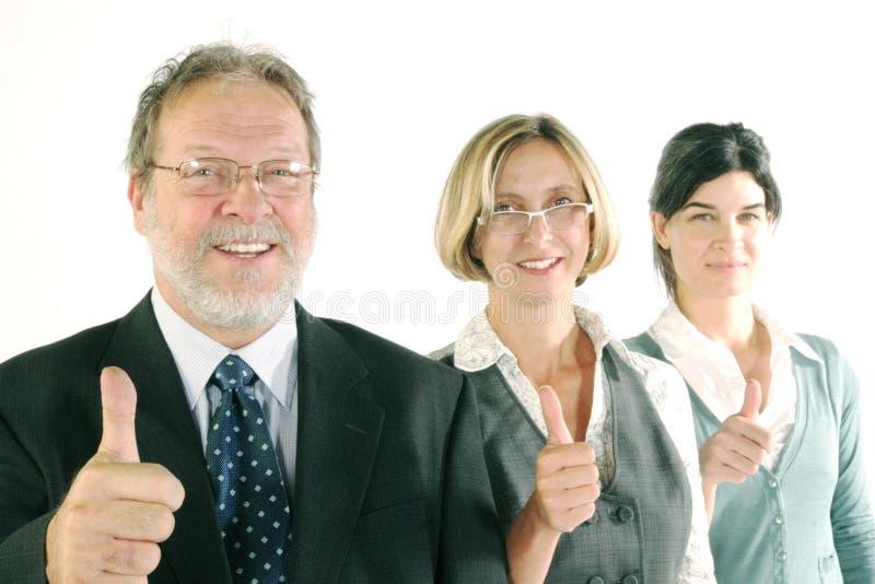 Equipe de sorriso do negócio fotografia de stock