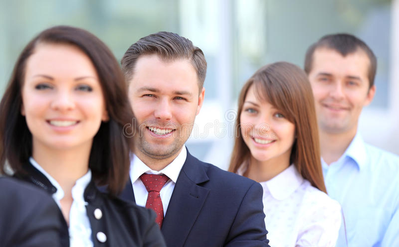 Equipe de sorriso feliz do negócio foto de stock