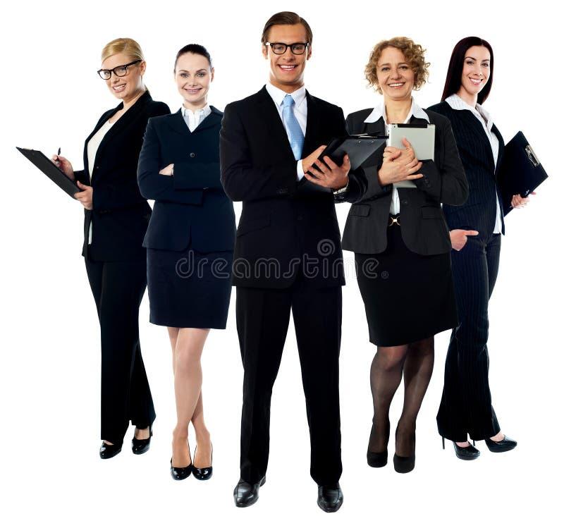 Equipe de sorriso nova do negócio da elite foto de stock