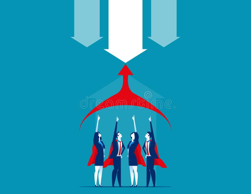 Equipe de Superbusiness Ilustração do vetor do negócio do conceito ilustração do vetor