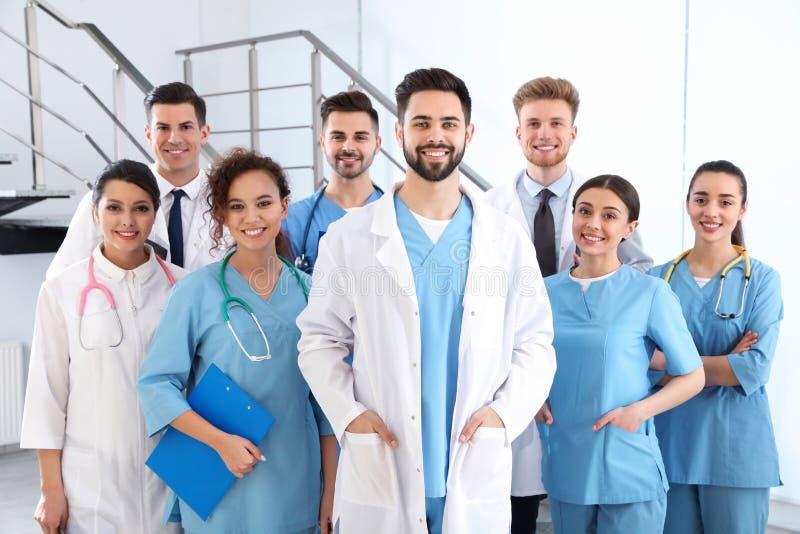Equipe de trabalhadores médicos Conceito da unidade fotos de stock