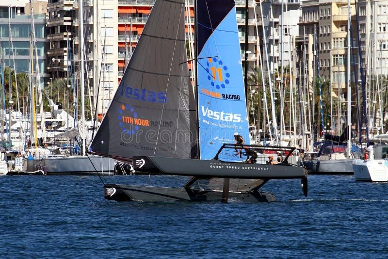 Equipe de Vestas da formação dos catamarãs de ProAM 32 fotografia de stock royalty free