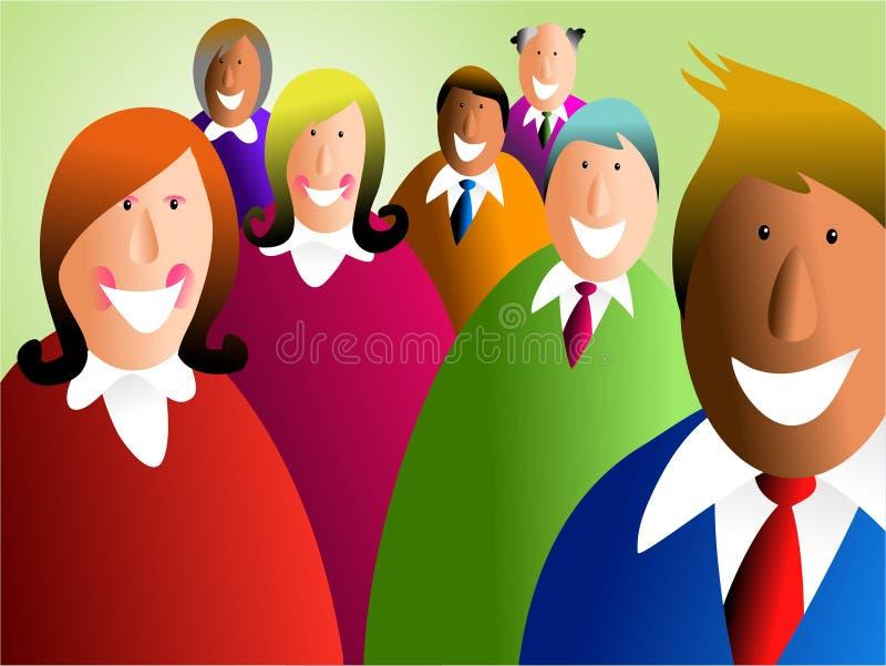 Equipe diversa ilustração stock