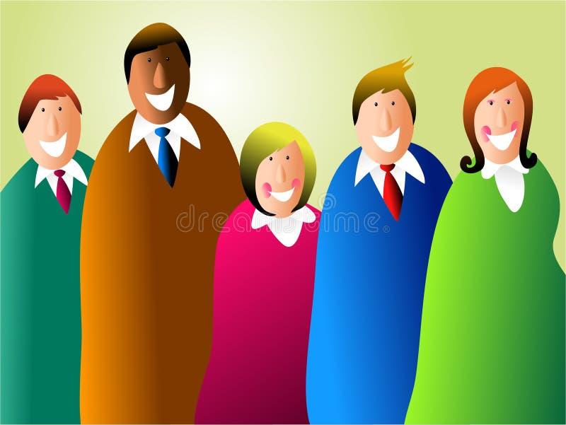 Equipe diversa do negócio ilustração do vetor
