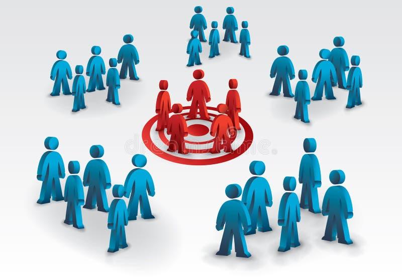 Equipe do alvo ilustração do vetor