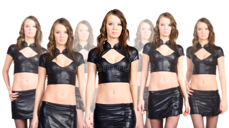 Equipe do clone imagem de stock