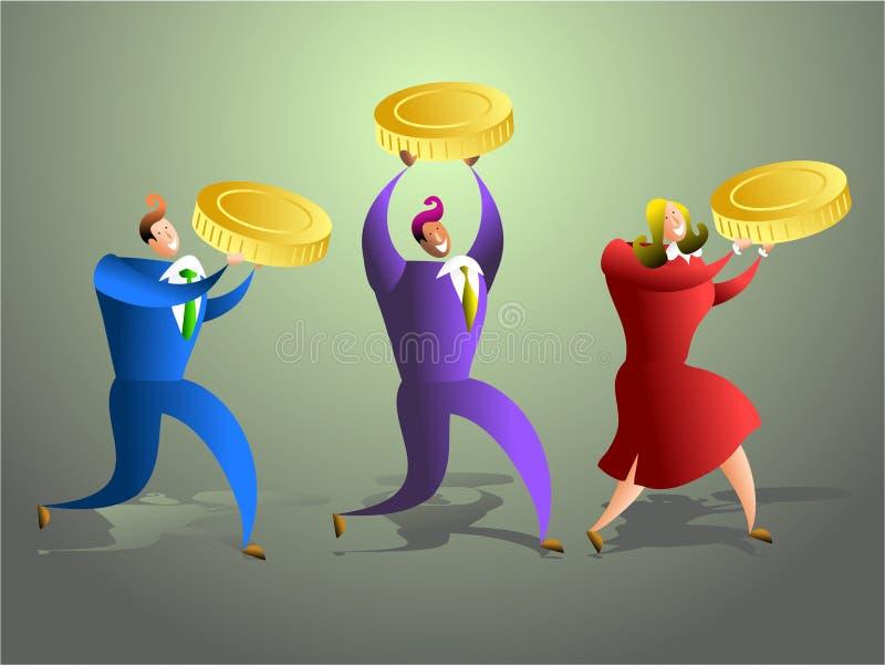 Equipe do dinheiro ilustração stock