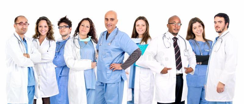 A equipe do doutor foto de stock