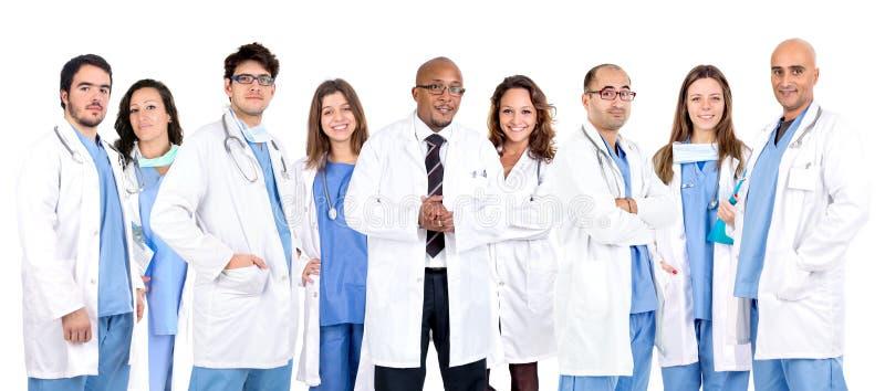 A equipe do doutor imagem de stock
