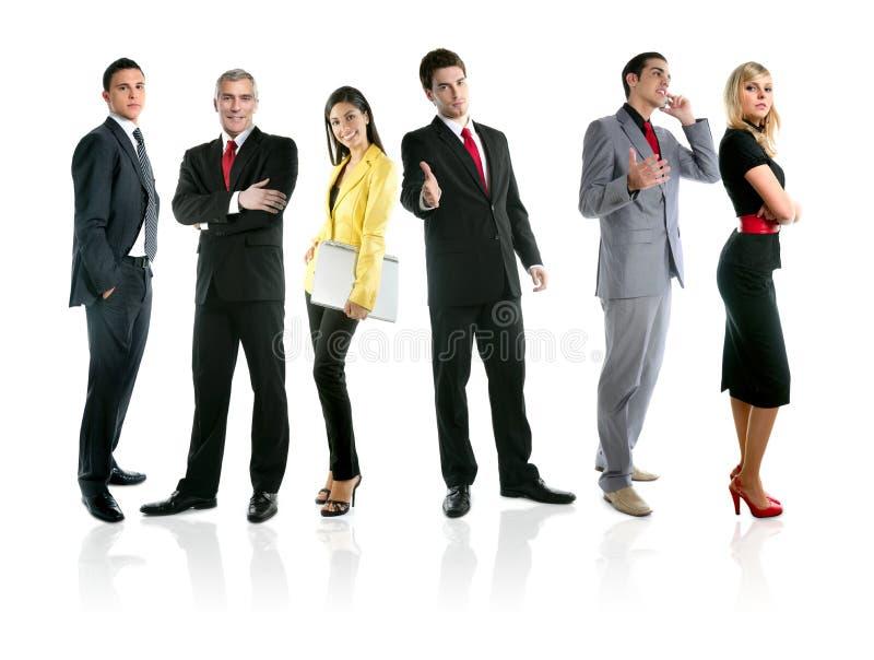 Equipe do grupo dos executivos do comprimento cheio da multidão fotografia de stock