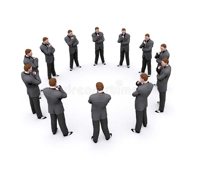 Equipe do homem de negócios ilustração do vetor