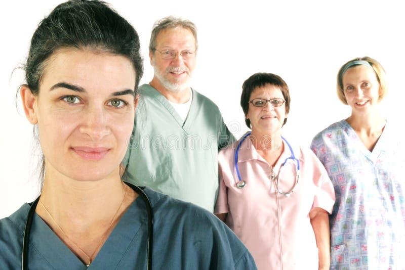 Equipe do hospital imagens de stock royalty free