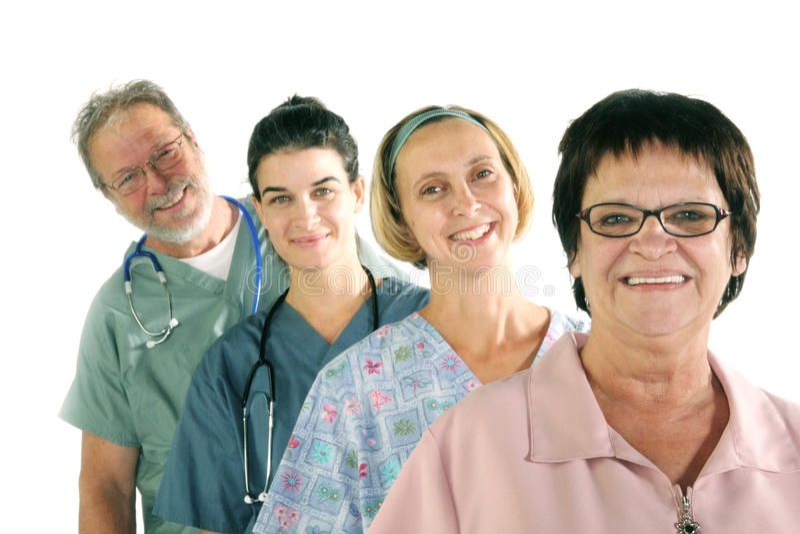 Equipe do hospital foto de stock